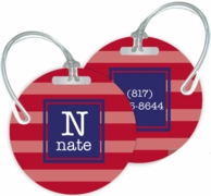 Stripes Personalized Bag Tags - SET OF 2 - CHOOSE YOUR DESIGN!