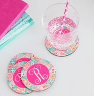 Summer Paisley Monogrammed Coasters - SET OF 4