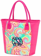 Summer Paisley Monogrammed Cooler Tote