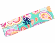 Summer Paisley Monogrammed Stretch Headband