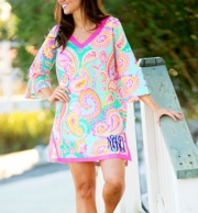 Summer Paisley Monogrammed Tunic