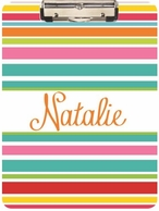Summer Stripes Personalized Clipboard