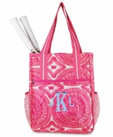 Sunburst Monogrammed Tennis Shoulder Bag
