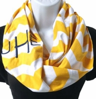 Sunny Days Chevron Lightweight Monogram Infinity Scarf