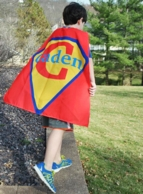 Super Boy Red Personalized Super Hero Cape