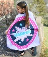 Super Girl POW Personalized Kids Super Hero Cape