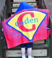 Superboy Personalized Hooded Towel