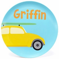 Surfer Car Personalized Kids Plate
