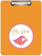 Sweet Birdie Personalized Clipboard