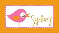 Sweetie Bird Personalized Kids Placemat