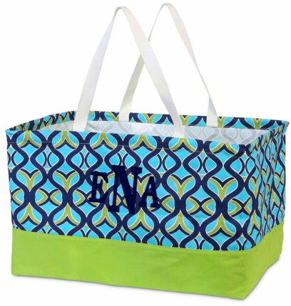 Tango Twist Monogrammed Haul It All Utility Tote