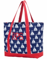 Sail Away Monogrammed Tote Bag