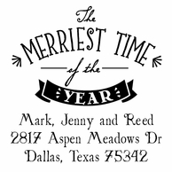 The Merriest Time Personalized Address Stamper