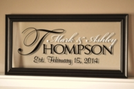 The Regal Personalized Glass Family Name Sign