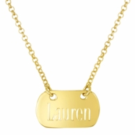 The Tara Gold Personalized Tag Necklace