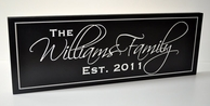 The Whittington Family Name Engraved Sign - 8 x 24