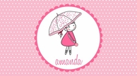 Tiny Umbrella Personalized Kids Placemat