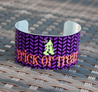 Trick Or Treat Halloween Cuff Bracelet