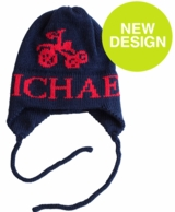 Tricycle Personalized Knit Hat with Earflaps