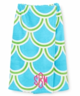 Turquoise Harbor BAE Monogrammed Spa Wrap