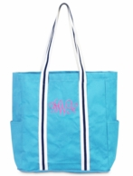 Turquoise Monogrammed Parker Tote