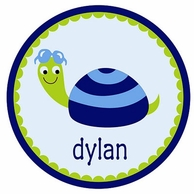 Turtle Dude Personalized Kids Plate