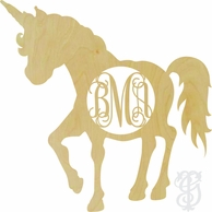 Unicorn Wood Wall Monogram