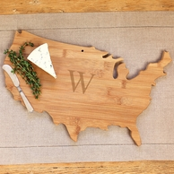 USA Personalized Wooden Serving Board