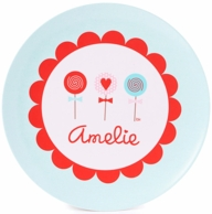 Valentine Lollipops Personalized Kids Plate / Bowl