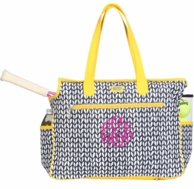 Vine Monogrammed Tennis Court Bag