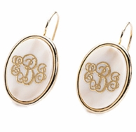 Vineyard Collection Monogram Oval Earrings - CHOOSE YOUR COLOR!