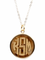 Vineyard Collection Monogram Round Necklace - CHOOSE YOUR SIZE & COLOR!