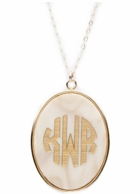 Vineyard Collection Oval Monogram Necklace - CHOOSE YOUR SIZE & COLOR!