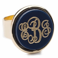 Vineyard Collection MEDIUM Monogram Ring - CHOOSE YOUR COLOR!