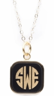 Vineyard Collection SQUARE Monogram Necklace - CHOOSE YOUR COLOR!