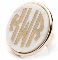 Vineyard Collection XL Monogram Ring - CHOOSE YOUR COLOR