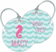 Waves Personalized Bag Tag - SET OF 2 - CHOOSE YOUR DESIGN!