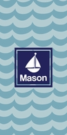 Waves Personalized KIDS Beach Towel - CHOOSE YOUR DESIGN!
