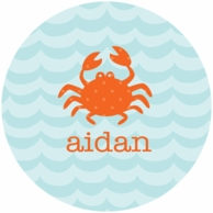Waves Personalized Kids Plate - CHOOSE YOUR DESIGN!