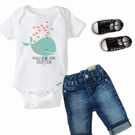 Whale Come Home Personalized Kids Tee