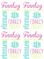 White Bright Print Personalized Minky Baby Blanket