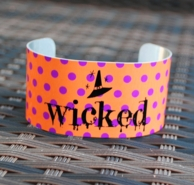 Wicked Witch Halloween Cuff Bracelet
