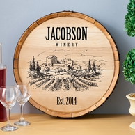 Wine Barrel Personalized Home Decor Sign