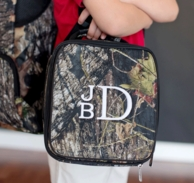Woods Camoflage Monogrammed Lunch Tote
