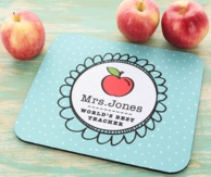 World's Best Teacher Personalized Mouse Pad