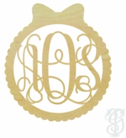 Wreath Border Wood Wall Monogram