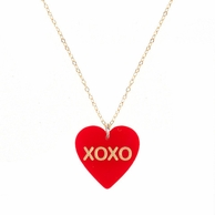 XOXO Red Conversation Heart Necklace