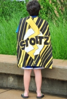Yellow Lightening Personalized Kids Super Hero Cape