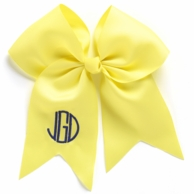 Yellow Monogrammed Hair Bow