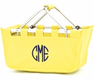 Yellow Monogrammed Large Market Tote